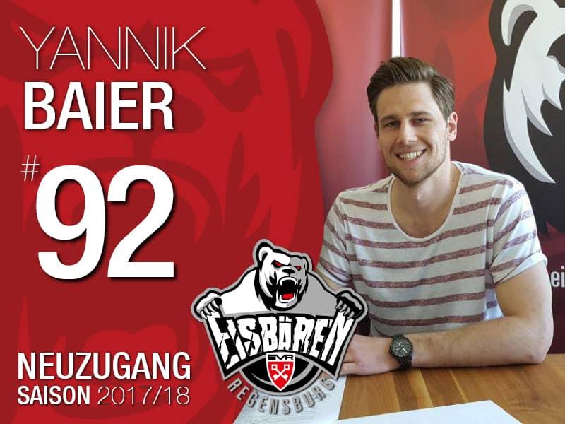 Yannik Baier wechselt zu den Eisbären Regensburg