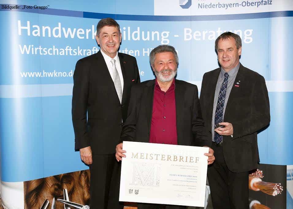Goldener Meisterbrief für Werner Freundl