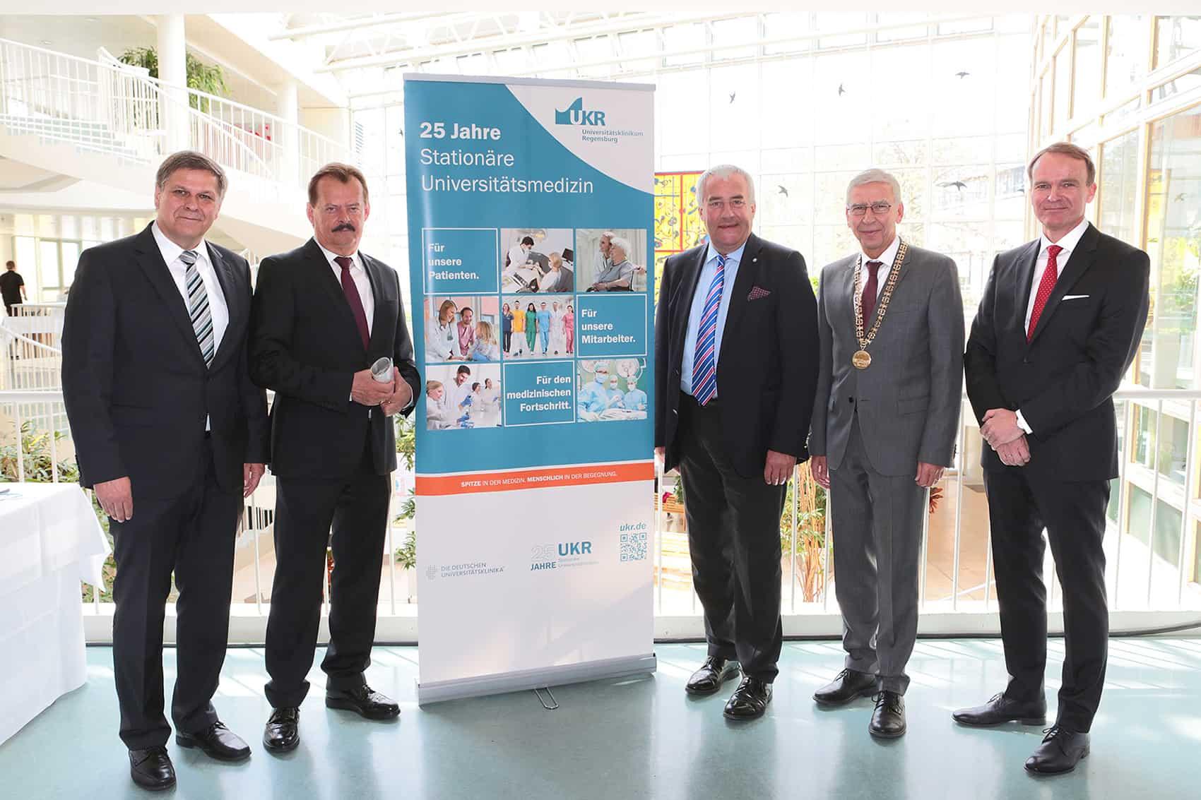 Festakt 25 Jahre stationäre Universitätsmedizin für Ostbayern am UKR