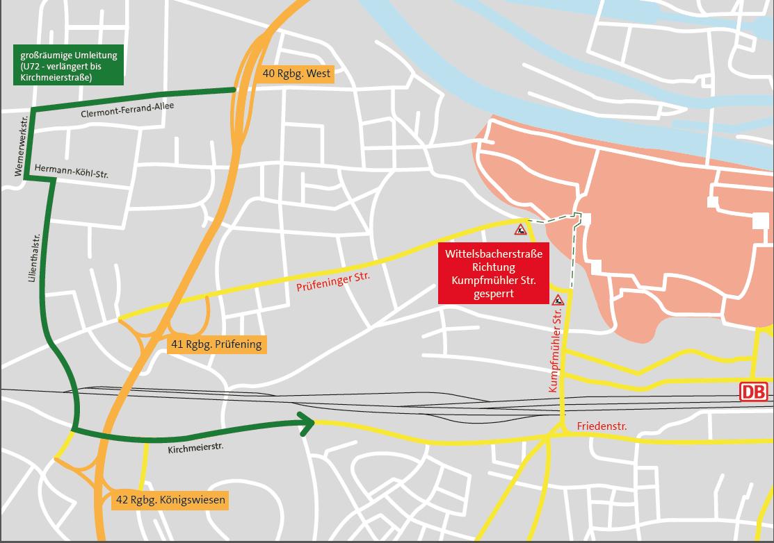Wittelsbacherstraße in Regensburg wird gesperrt