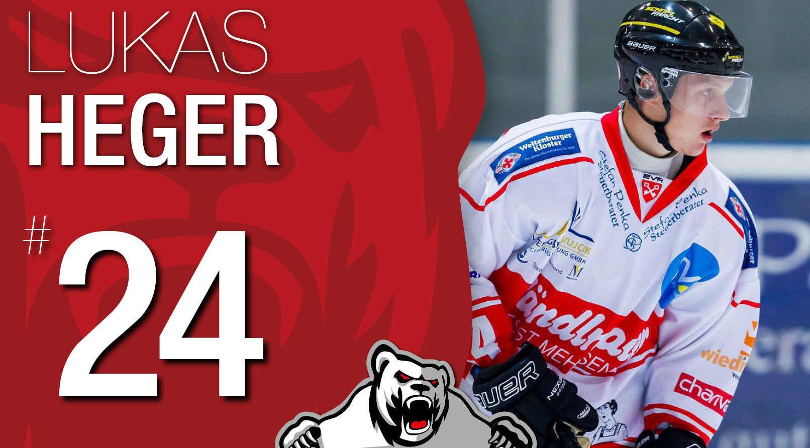 Lukas Heger bleibt den Eisbären Regensburg treu