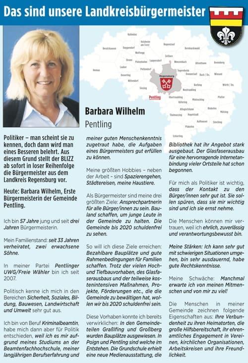 Das sind unsere Landkreisbürgermeister: Heute Barbara Wilhelm aus Pentling