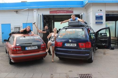 """Regensburger fahren bei """"Carbage Run""""-Rallye mit"""
