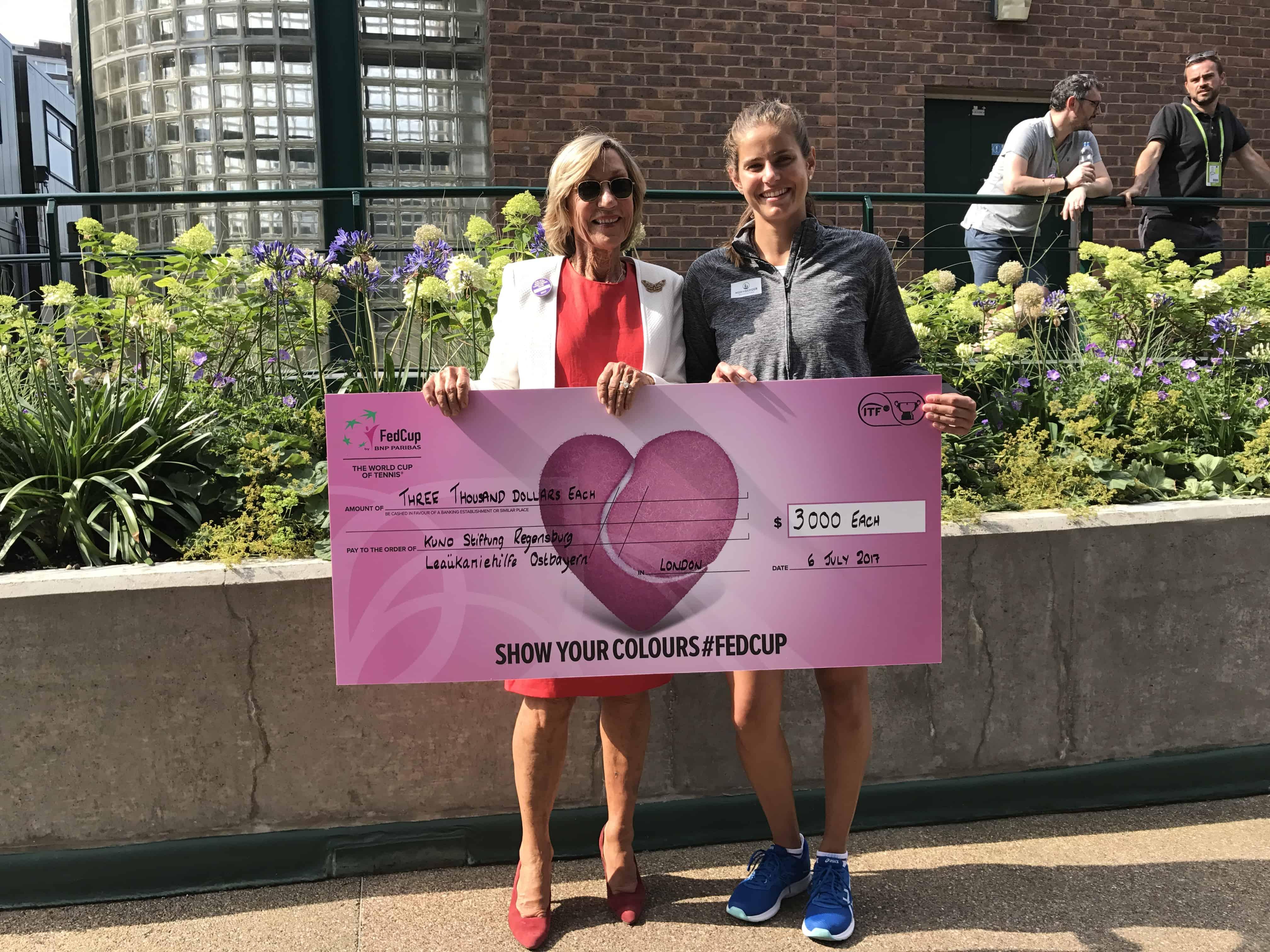 Tennis-Star Julia Görges spendet an KUNO und Leukämiehilfe