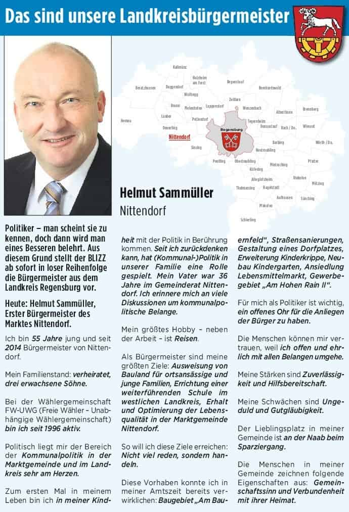 Unsere Landkreis-Bürgermeister. Heute: Helmut Sammüller aus Nittendorf