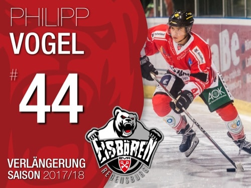 Philipp Vogel verlängert bei den Eisbären Regensburg