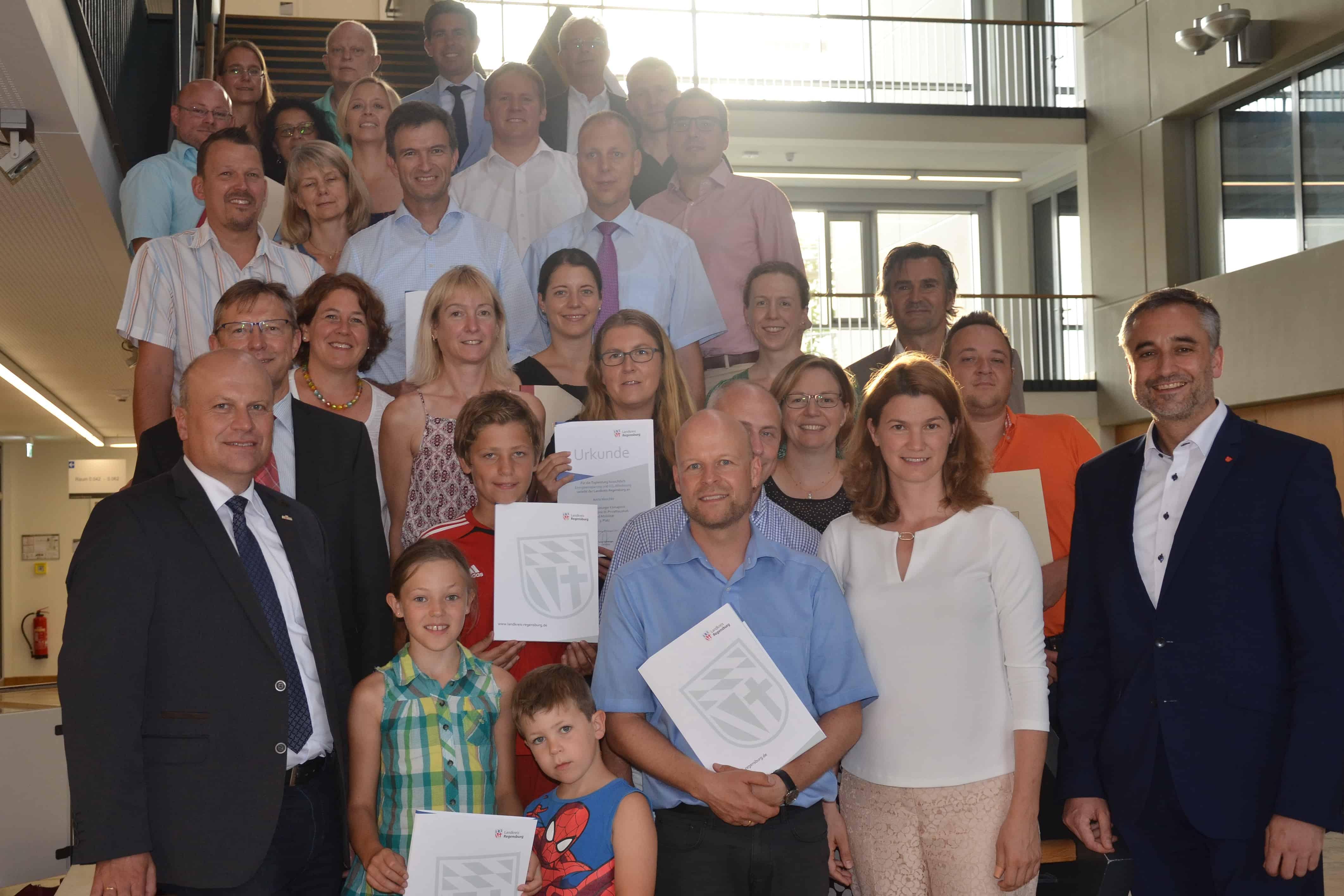 Stadt und Landkreis Regensburg verleihen Klimapreis