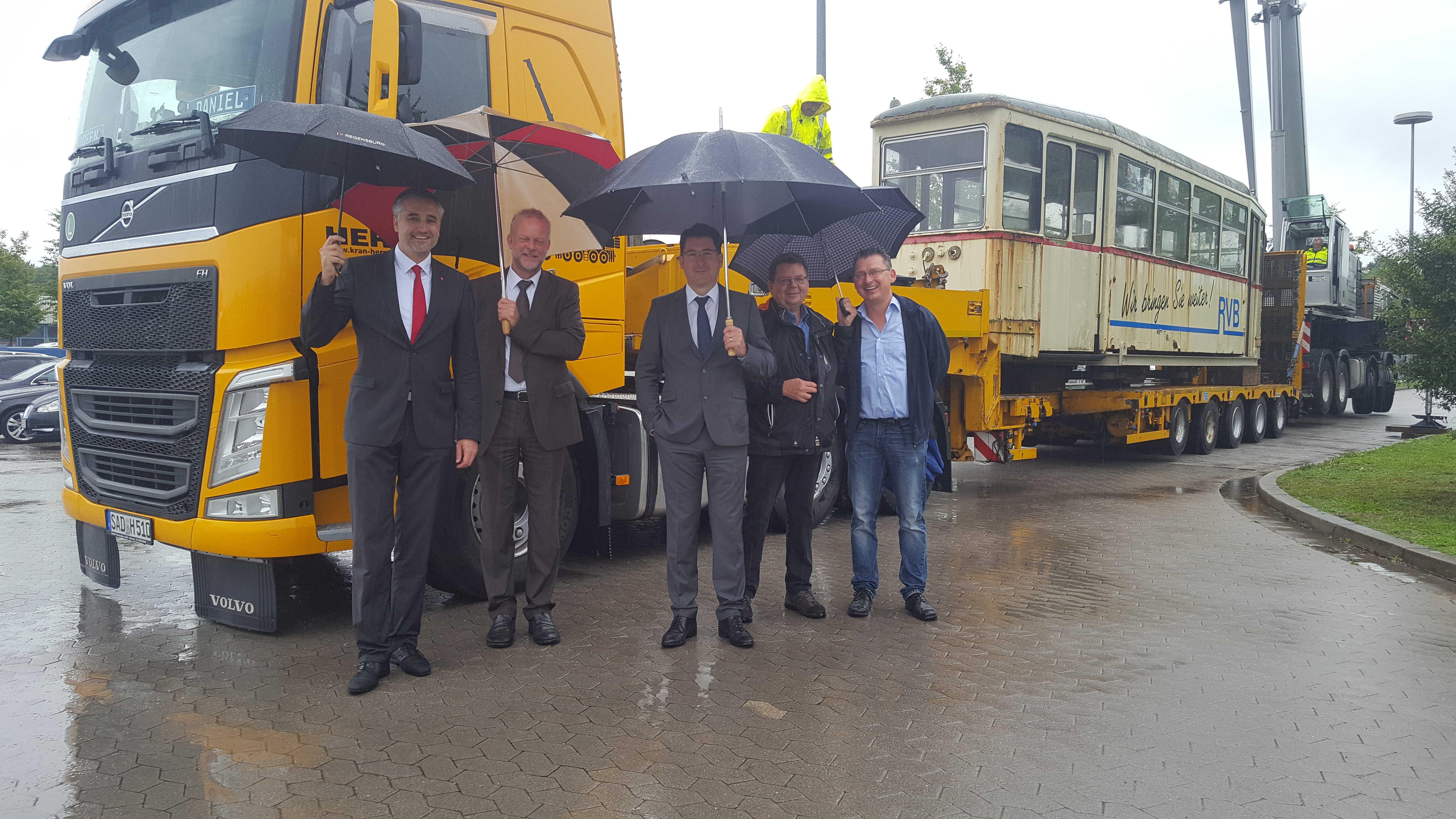 Die Regensburger Straßenbahn ist in ihr neues Depot übergesiedelt