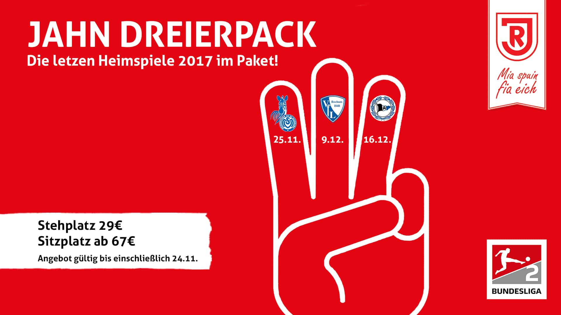 """""""Jahn Dreierpack"""": Verkauf für Jahresendspurt startet"""