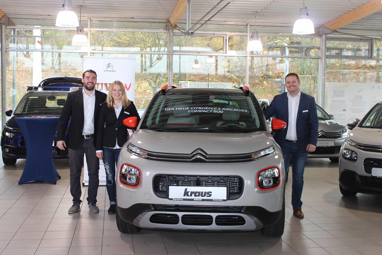 Den neuen Compact SUV Citroën C3 Aircross gibt's ab sofort bei Automobile Kraus