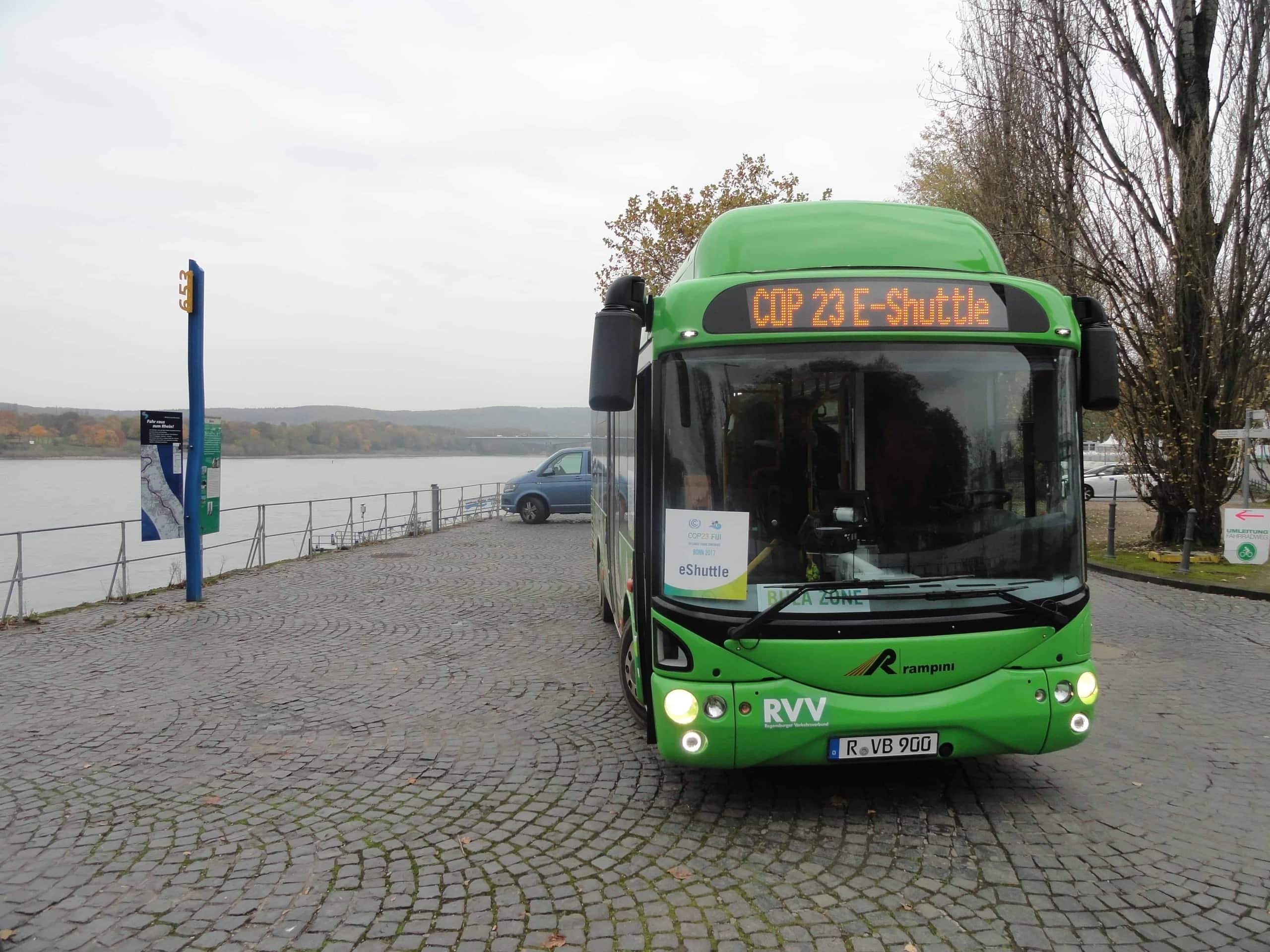 Regensburger E–Bus bei Weltklimakonferenz