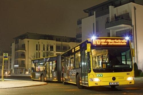 So fahren die RVV-Busse an Silvester