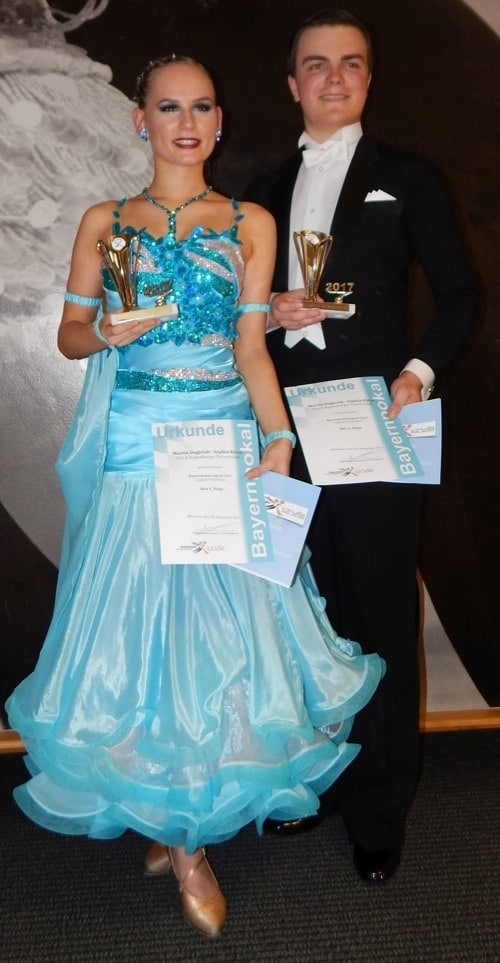 Regensburger Tanzpaar Sophia Riese und Martin Dagleish erfolgreich