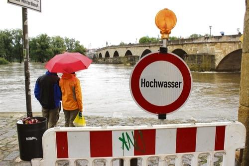 Aktualisierte Hochwasserprognose für Regensburg (Stand 4.1.)