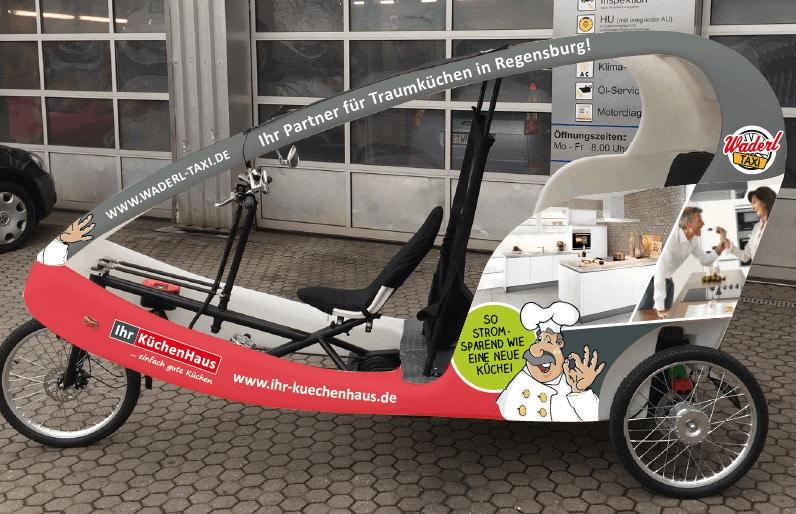 Ihr Küchenhaus sucht begeisterte Radler für Rikscha-Taxi-Flotte