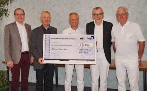 Das MediPark-Netzwerk im Gewerbepark Regensburg unterstützt das Thomas-Wiser-Haus in Regenstauf