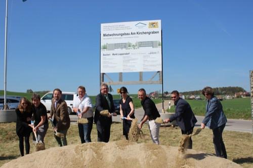 Spatenstich in Oppersdorf: 18 neue Sozialwohnungen entstehen