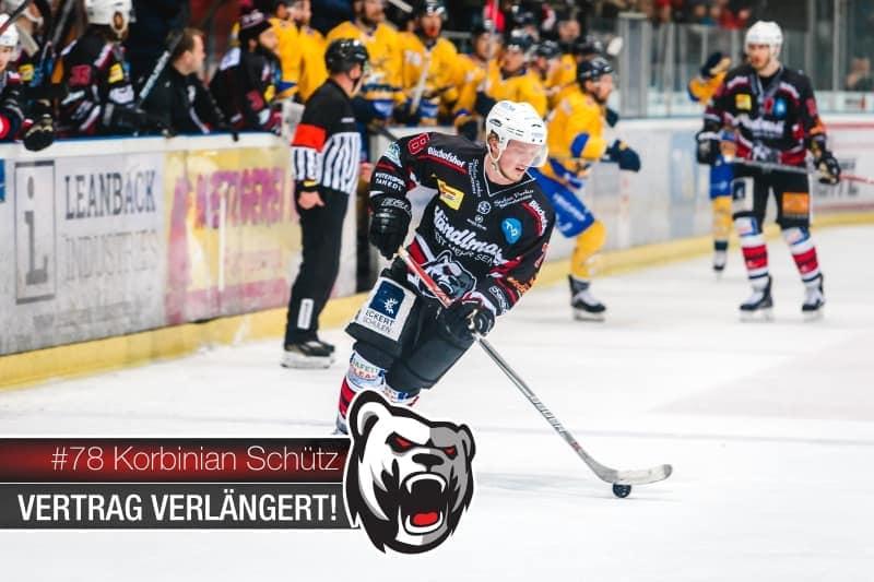 Eishockey: Korbinian Schütz verlängert bei den Eisbären Regensburg