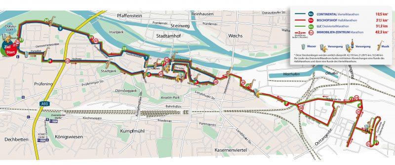 Regensburg Marathon: Hier wird gelaufen