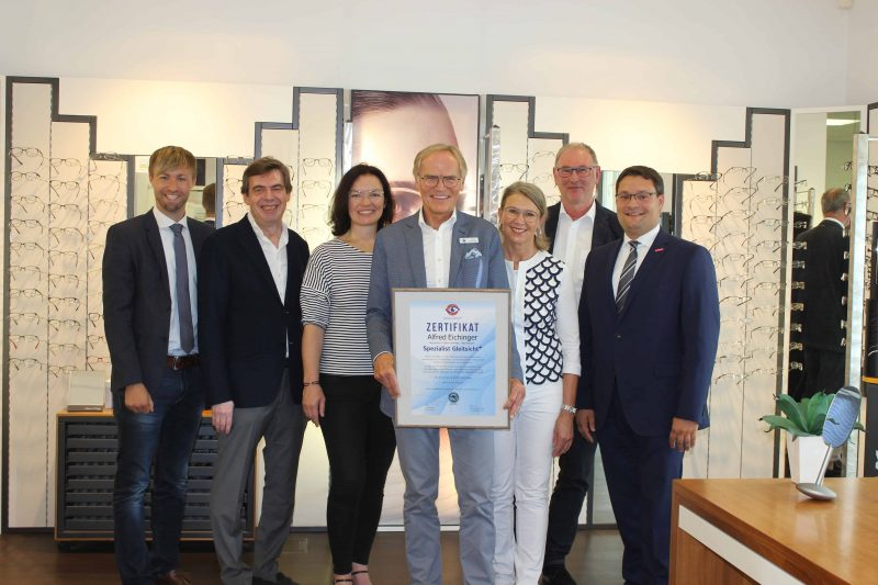 Sehzentrum Optik Eichinger erhält Auszeichnung