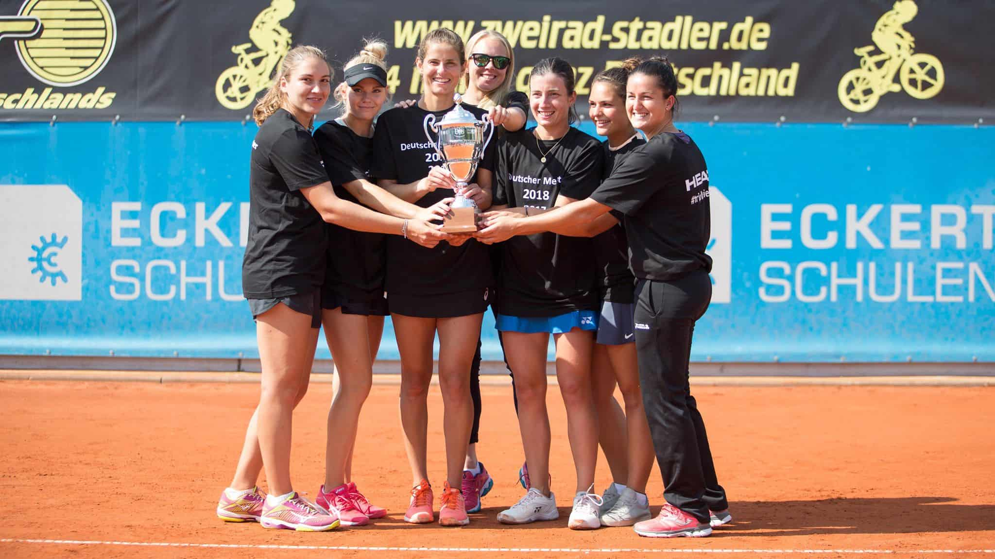 Tennis-Damen holen den Titel-Hattrick