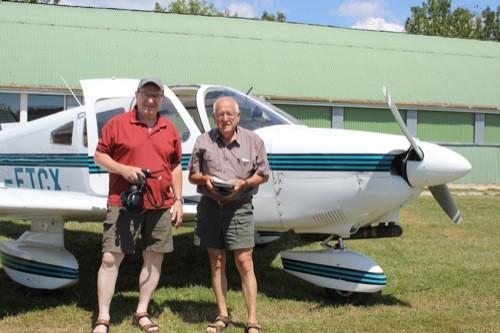 Der Blizz war mit Waldbrandbeobachtern im Flugzeug unterwegs