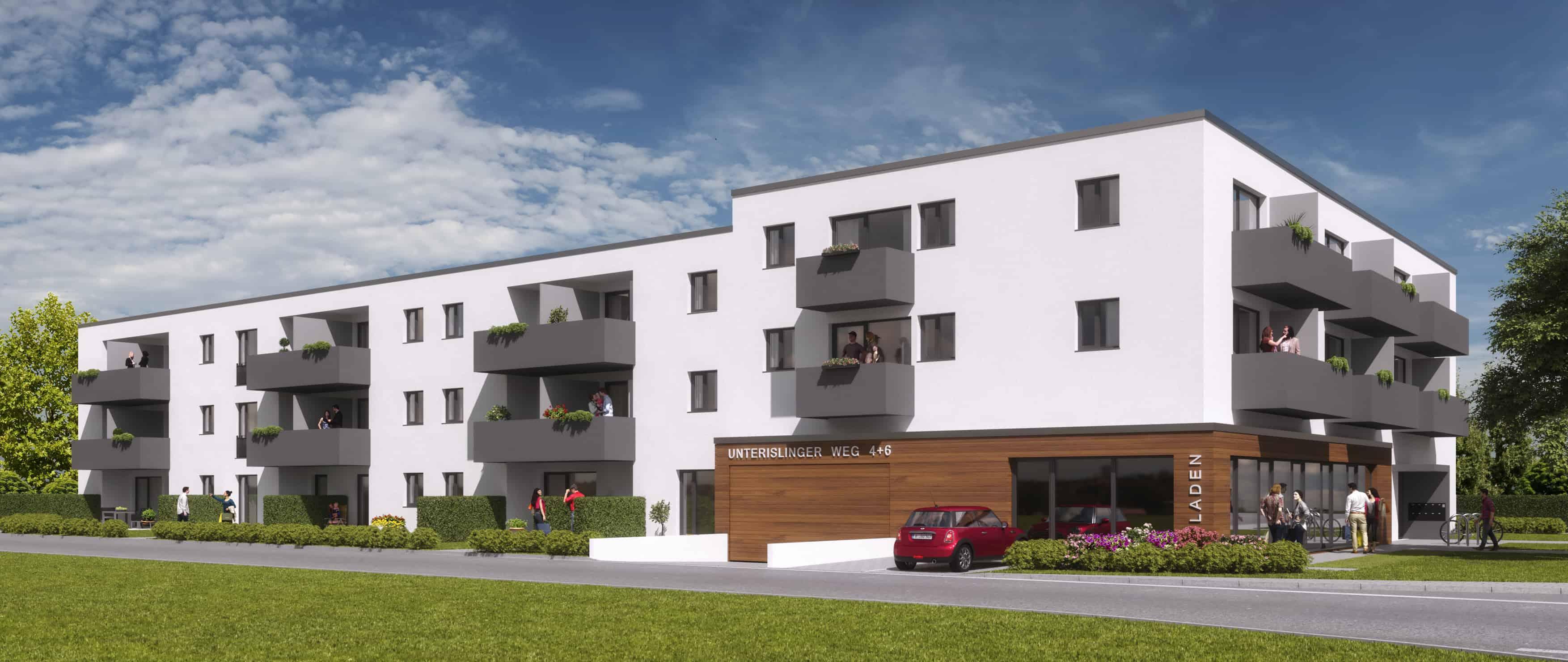 Neues Wohnkarree entsteht Bis 2020: Firma Stockerl baut 62 Wohnungen am Unterislinger Weg in Regensburg
