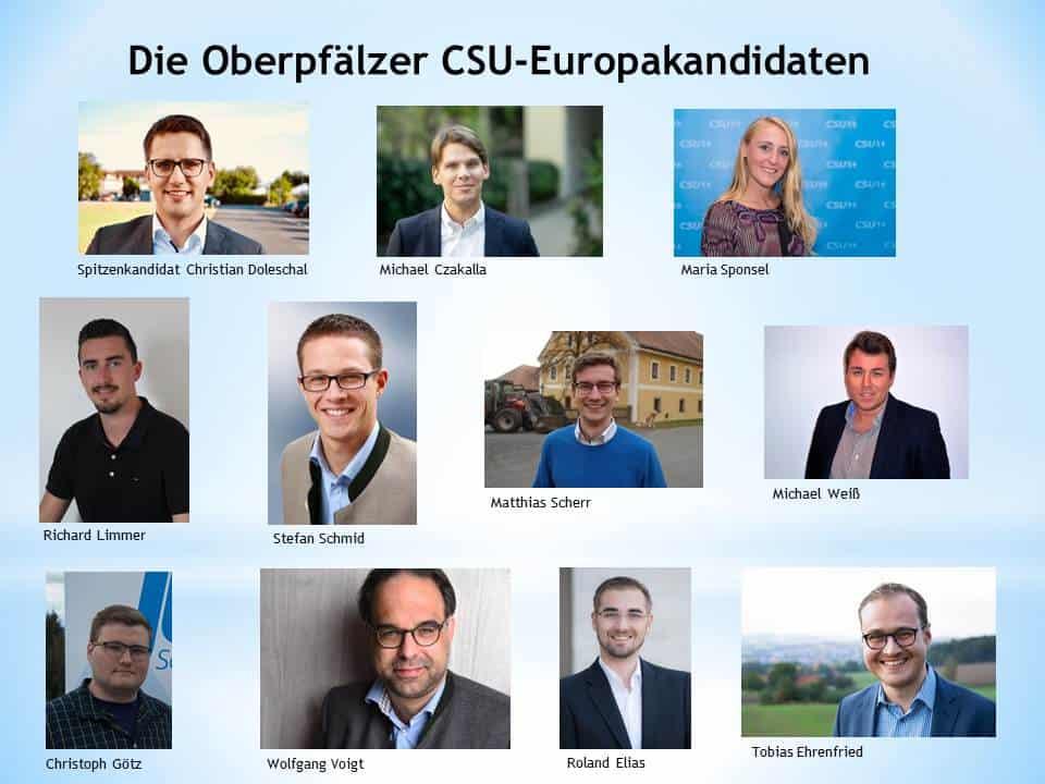 Ein hervorragendes Ergebnis CSU Oberpfalz mit Christian Doleschal auf Platz 5 der CSU-Europaliste