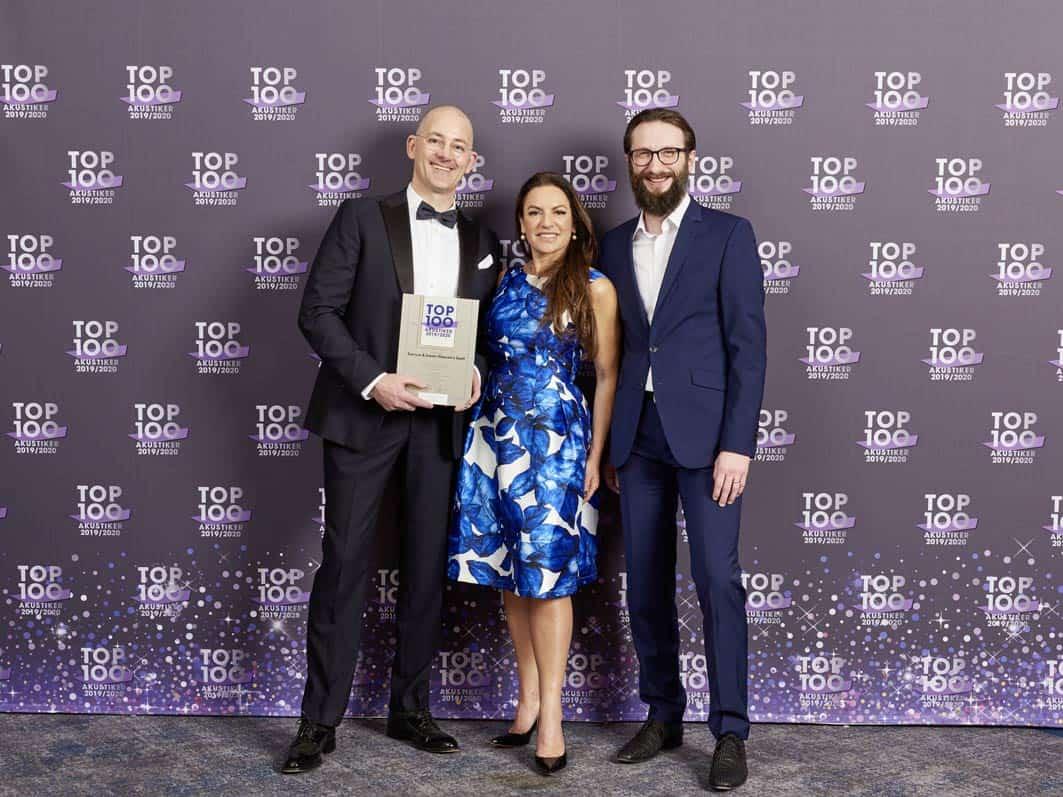 Schiller & Gebert schafft das TOP 100-Triple Sechs Jahre in Folge zu Deutschlands Top-Akustikern