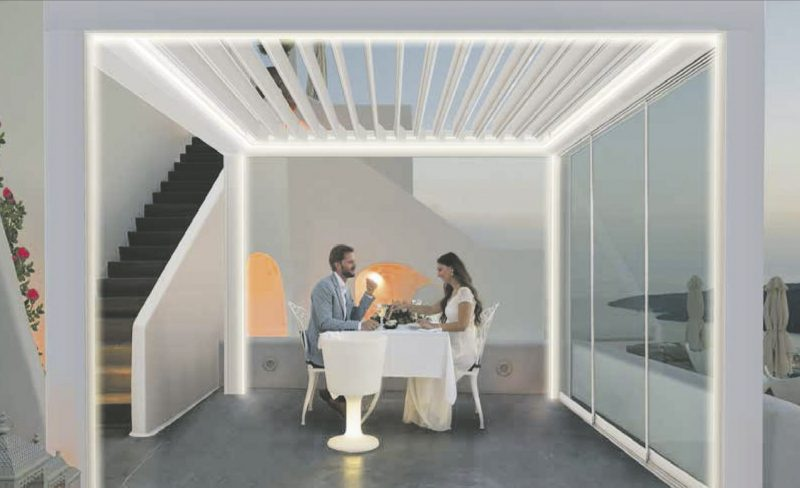 Lamellendächer der Firma Riembauer fungieren als Sonnen- & Wetterschutz Dolce Vita im eigenen Zuhause genießen