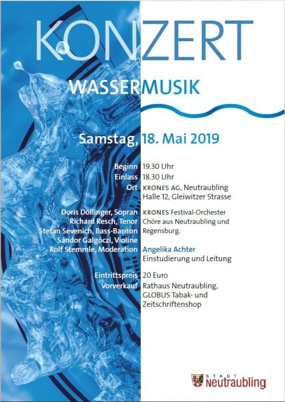 """Blizz Leserreporter """"Wassermusik"""" bei Krones - Klassik in der Werkshalle"""