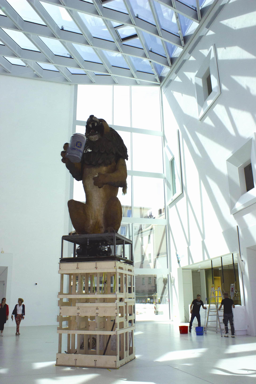 Löwenbräu-Löwe im Museum der Bayerischen Geschichte in Regensburg