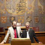 Rednerpult des Bayerischen Landtags