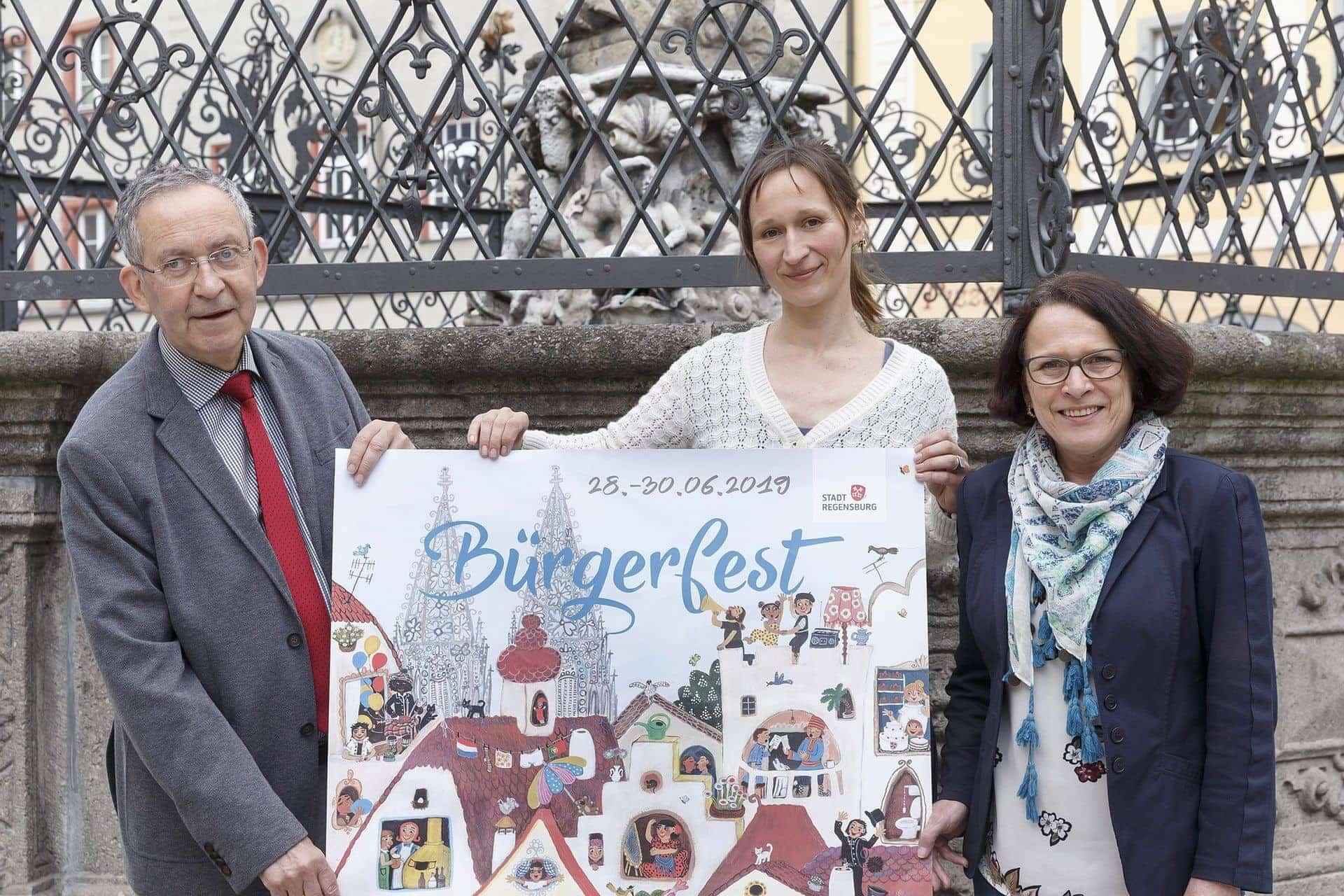 Regensburg in Europa Das Plakat zum Bürgerfest ist da!