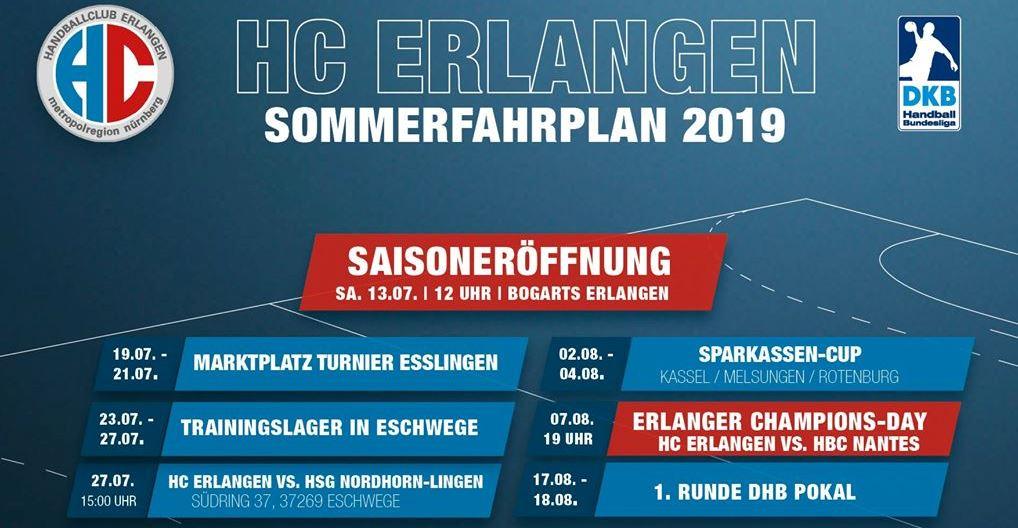 Blizz Leserreporter Handball-Bundesliga: intensiver Sommerfahrplan des HC Erlangen