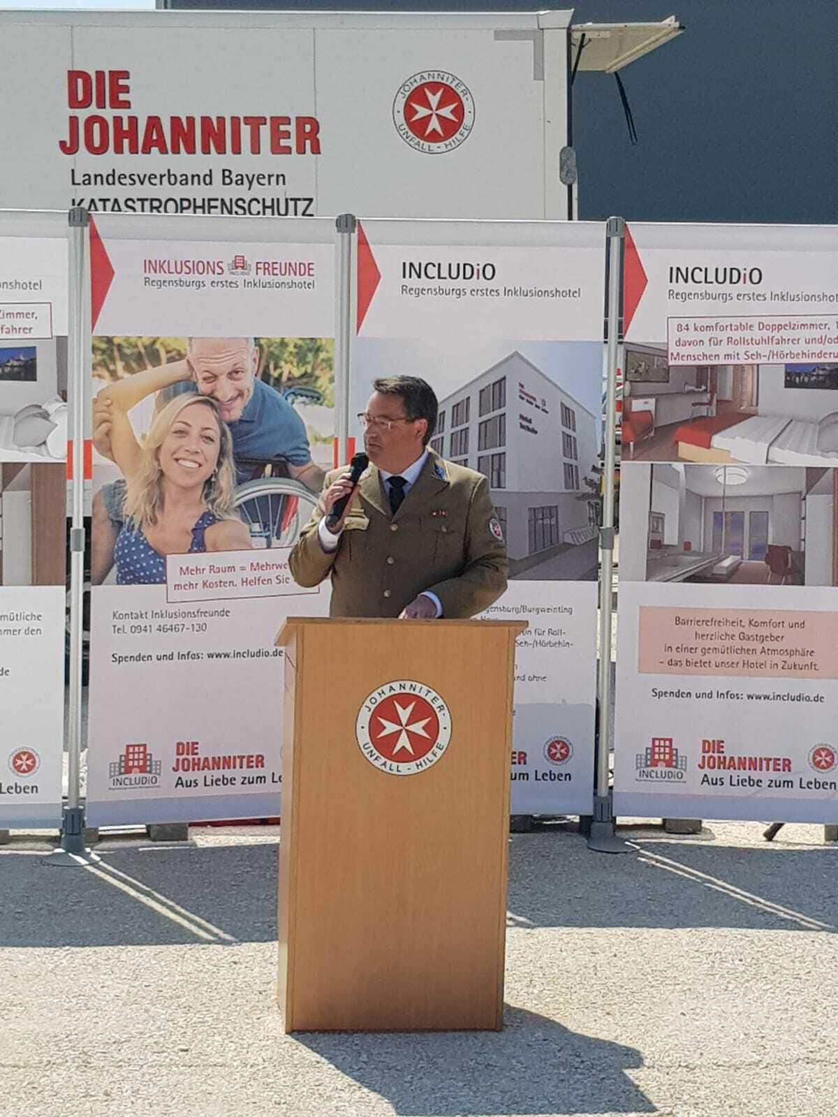 Die Johanniter eröffnen Regensburgs erstes Inklusionshotel Spatenstich für das Leuchtturmprojekt Includio