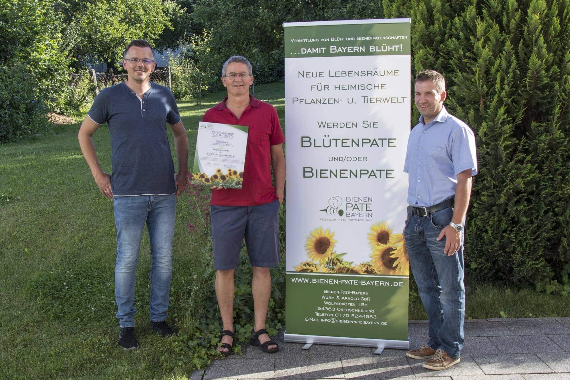 Blizz Leserreporter Firma ProLogis Automatisierung und Identifikation GmbH übernimmt für die nächsten fünf Jahre eine Blütenpatenschaft für eine Fläche von 9.400 m²