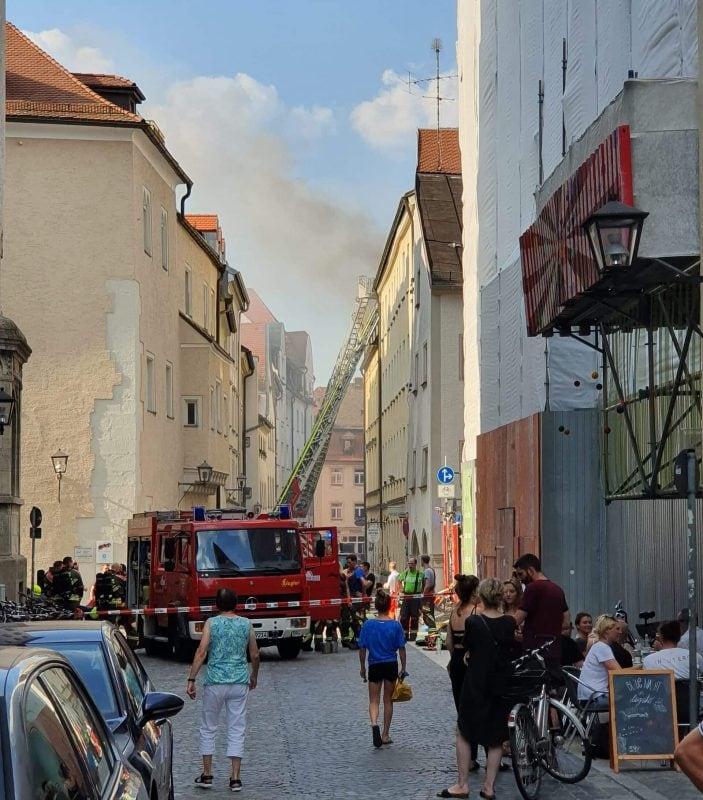 Feuer in der Regensburger Innenstadt Brand in der Steinergasse ist auf Fahrlässigkeit zurückzuführen