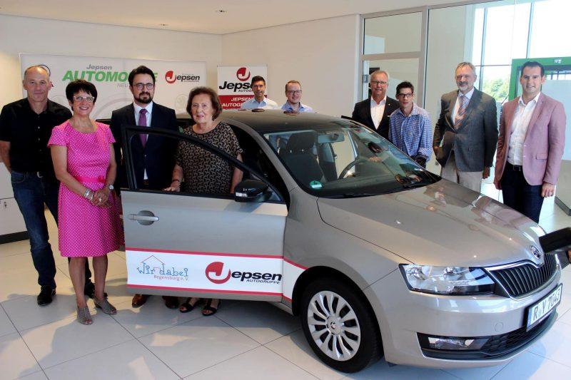 """Jepsen Autogruppe sponsert einen SKODA Rapid Neues Auto für gemeinnützigen Verein """"Wir dabei Regensburg"""""""
