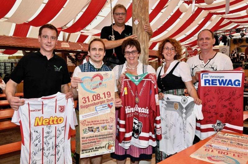 Charity-Aktion für den Malteser Herzenswunsch-Krankenwagen Am Samstag ist im Hahn Zelt Benefiztag