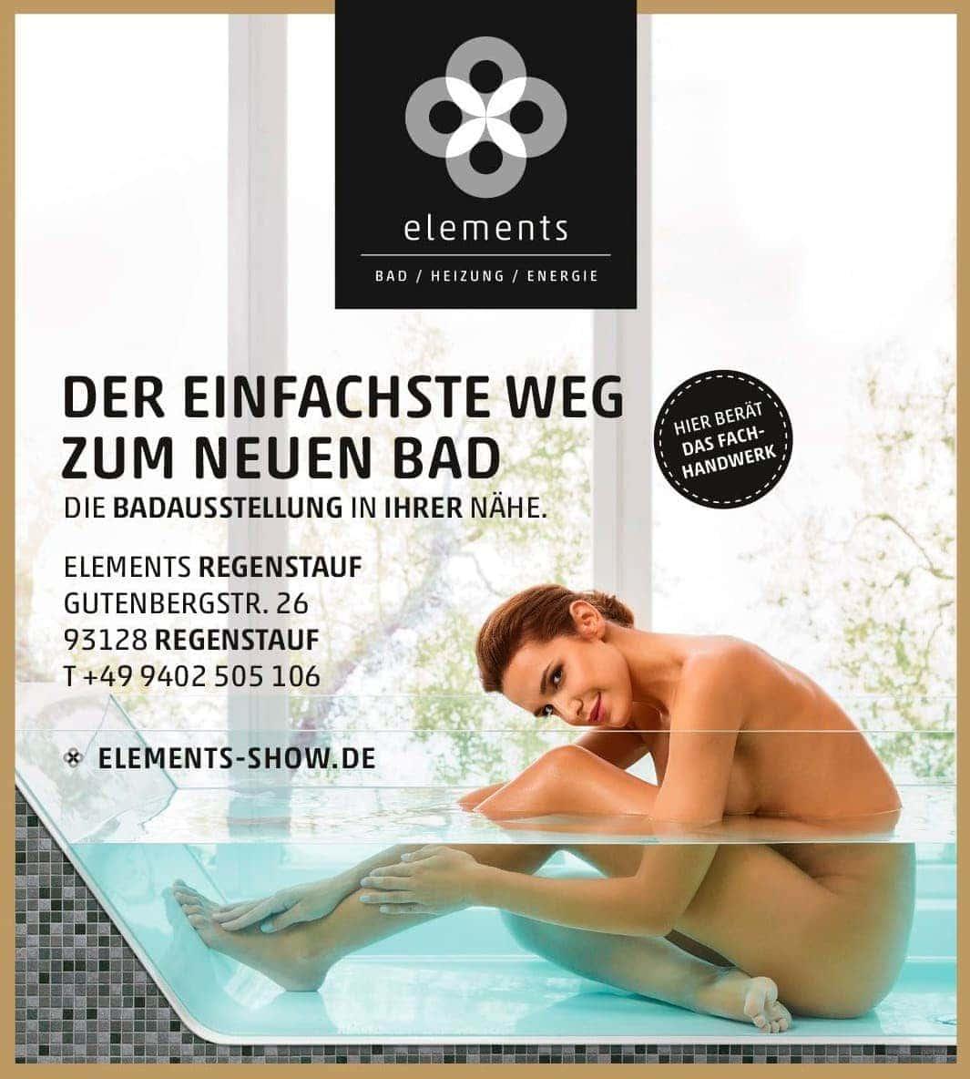 Die Fachausstellung ELEMENTS in Regenstauf bietet Inspiration und kompetente Beratung Eigene Badideen wahr machen
