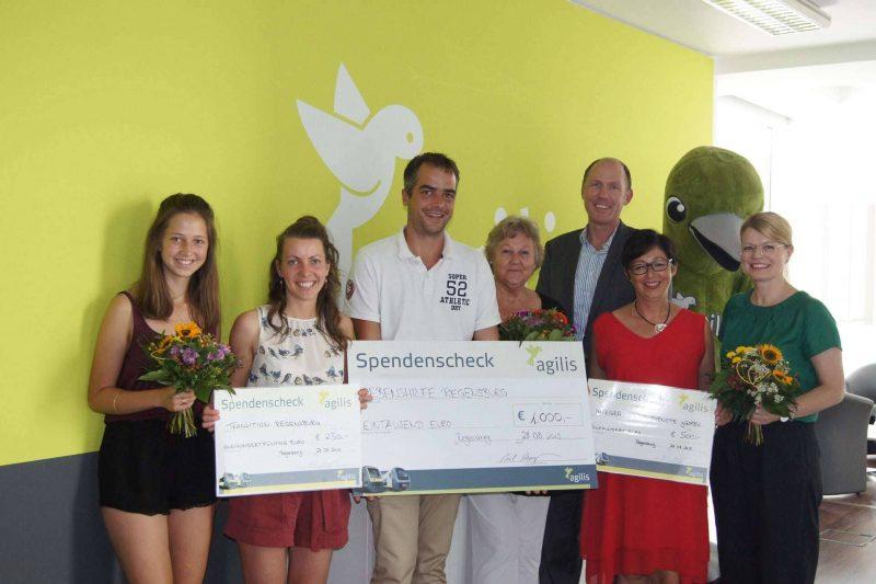 """Spendenwettbewerb """"agilis kommt an"""" Finanzspritze für gemeinnützige Projekte"""