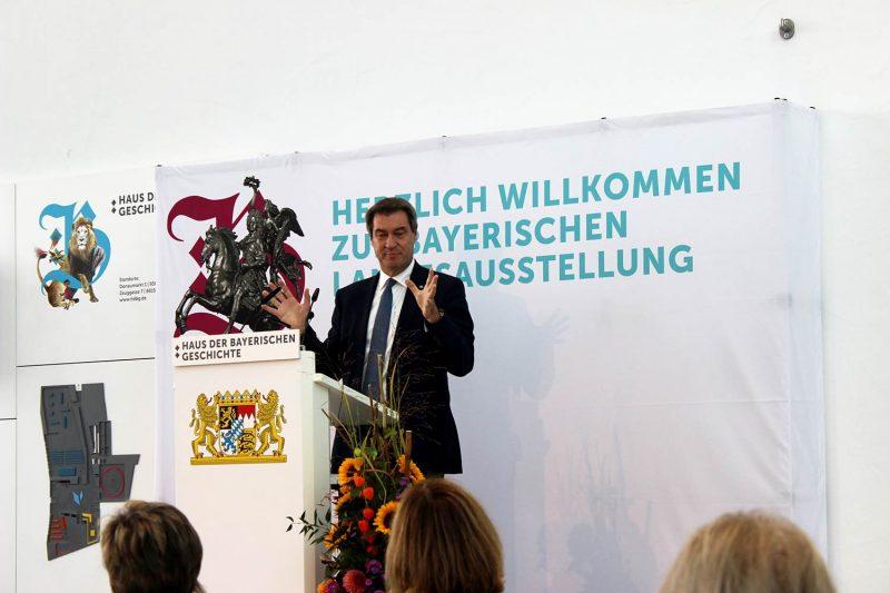 """Bayerischer Ministerpräsident Markus Söder eröffnet Landesausstellung """"100 Schätze aus 1.000 Jahren"""" in Regensburg """"Ein Privileg, ein Bayer zu sein"""""""