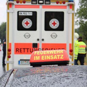 Zwei Personen in Silo verschüttet Rettungsmaßnahmen in der Äußeren Wiener Straße