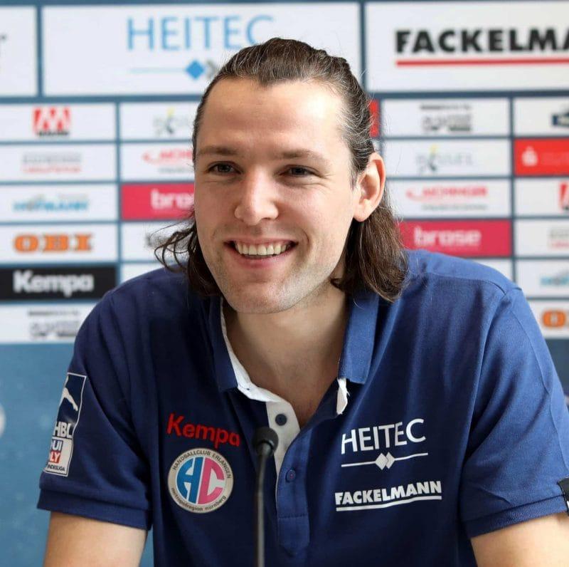 Handball HC Erlangen und Johannes Sellin verlängern Vertrag Handball: HC Erlangen und Johannes Sellin verlängern Vertrag