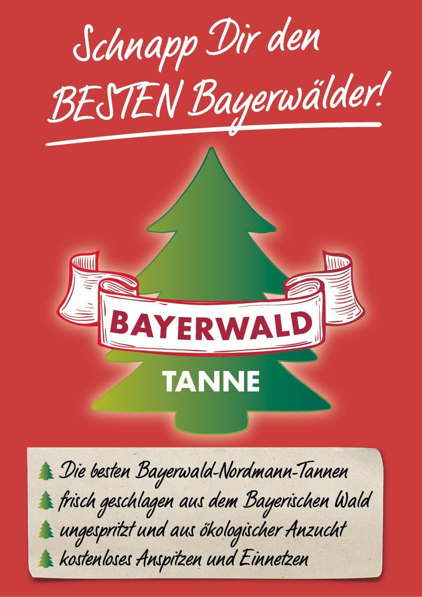 """Gartencenter Bellandris Haubensak in der Bajuwarenstraße verkauft am Freitag und Samstag den """"Gute-Taten-Baum"""" """"Schnapp dir den besten Bayerwälder"""""""