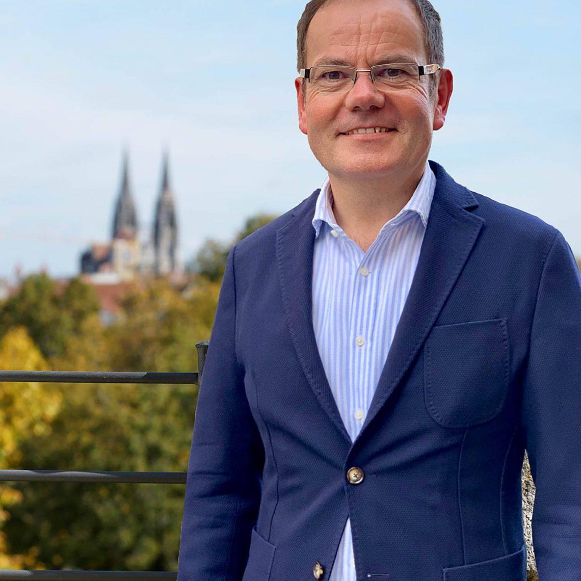 """Christian Janele ist OB-Kandidat für die CSB in Regensburg """"Verwalten alleine reicht nicht"""""""