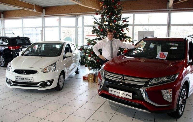 """Weihnachts-SALE bei Auto Landsmann in Regensburg Space Star """"Polar"""" sofort zum Mitnehmen oder 500-Euro-Gutschein für Eclipse Cross on top"""
