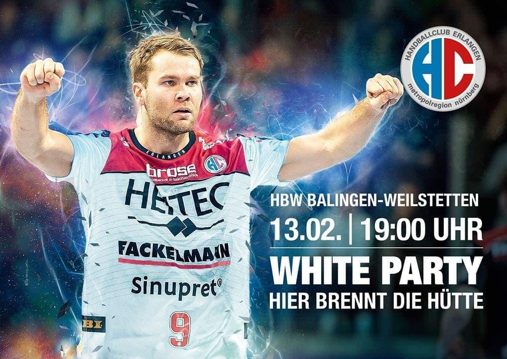 "Blizz Leserreporter: HC Erlangen ""White Party"" gegen Balingen"