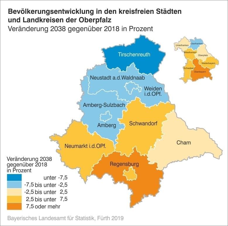 """Halbe Million mehr """"Zuagroaste"""" in Bayern bis 2038 Raum Regensburg mit Sogwirkung"""